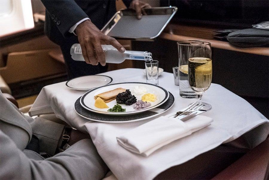 Caviar at 30,000 feet? Don't mind if I do.