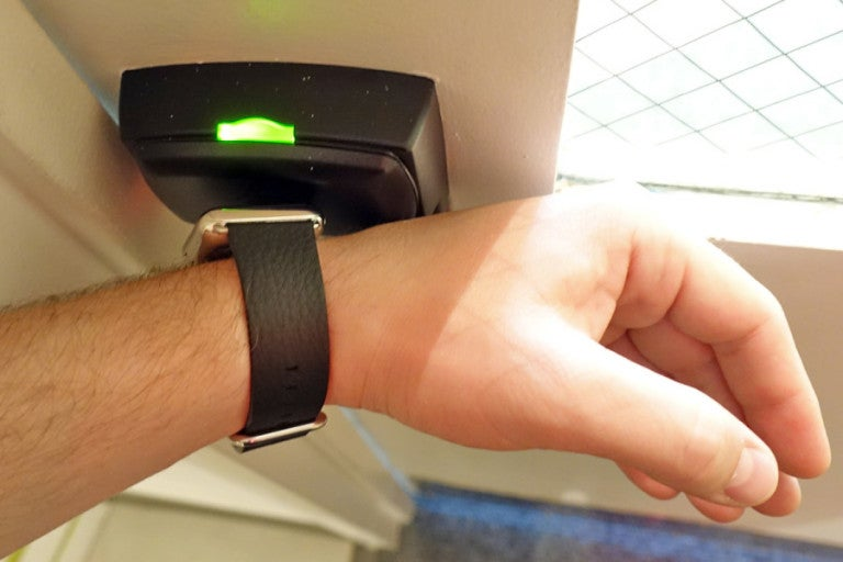 Yes, you can use your watch to access the gym, too.