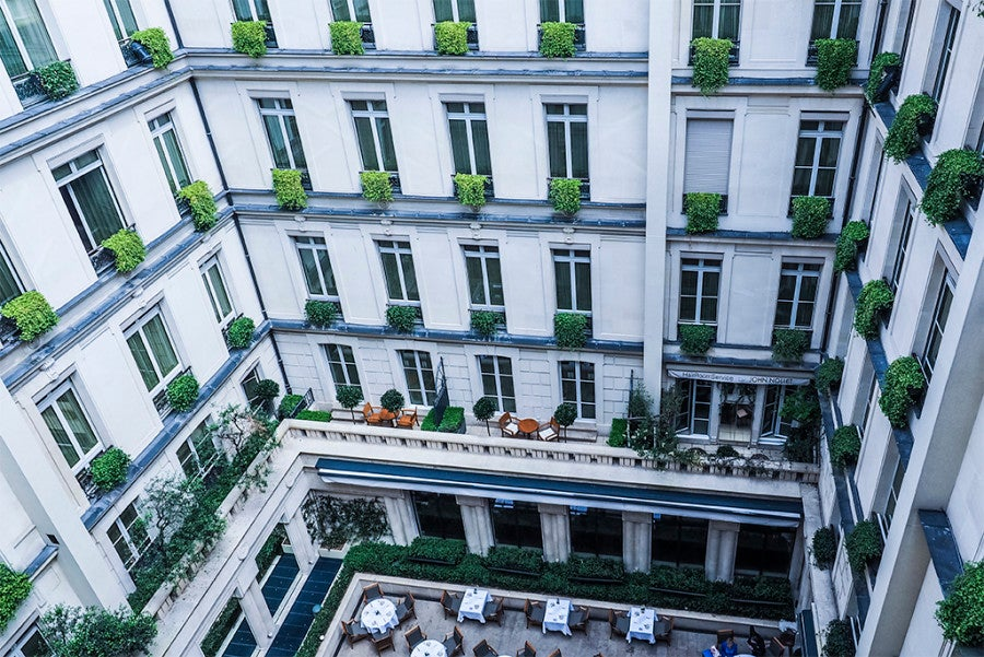 The views of the courtyard at the Park Hyatt Paris-Vendôme were a highlight.