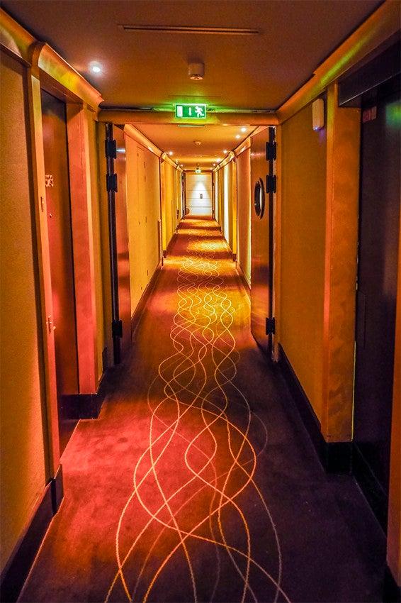 The hallways felt a little dark.