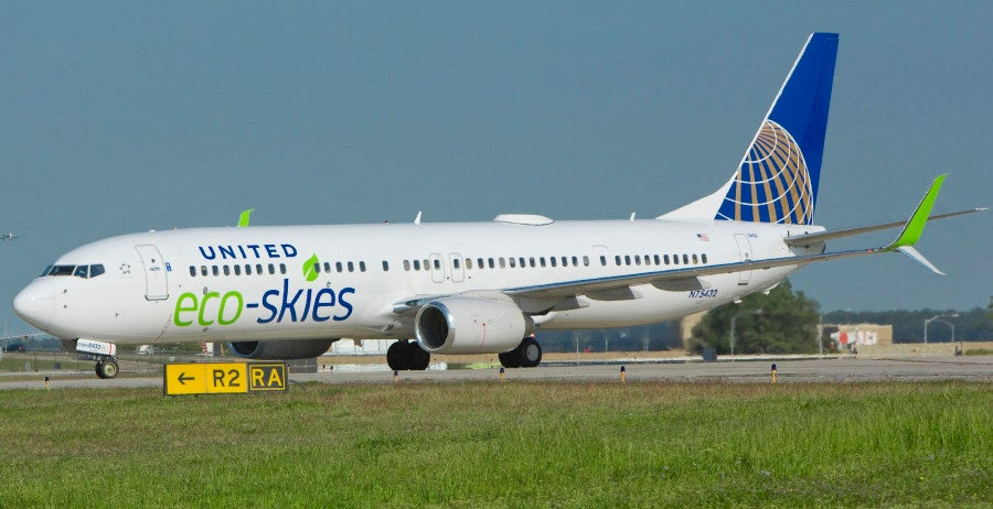 United EcoSkies jet livery