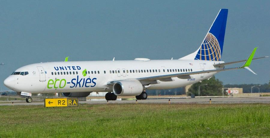 United EcoSkies jet livery