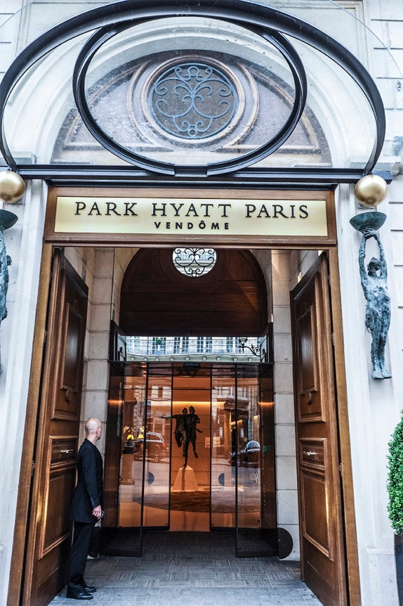 The Elegant Entrance To Park Hyatt Paris Vendôme