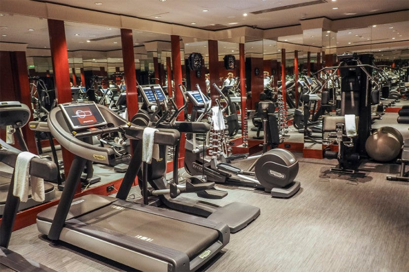 The gym featured the usual machines.