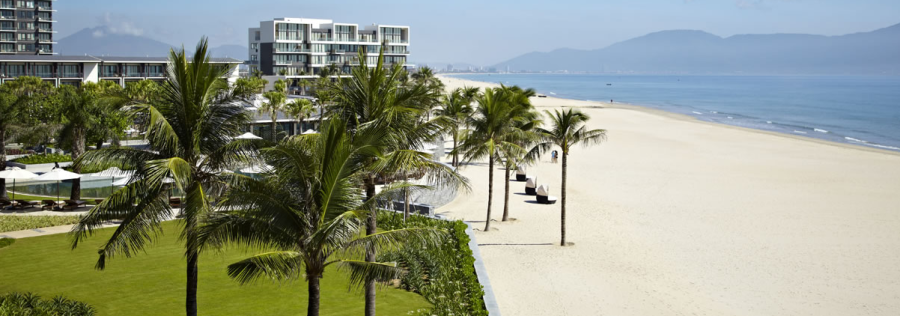 The expansive beach at the Hyatt Regency Danang Resort & Spa