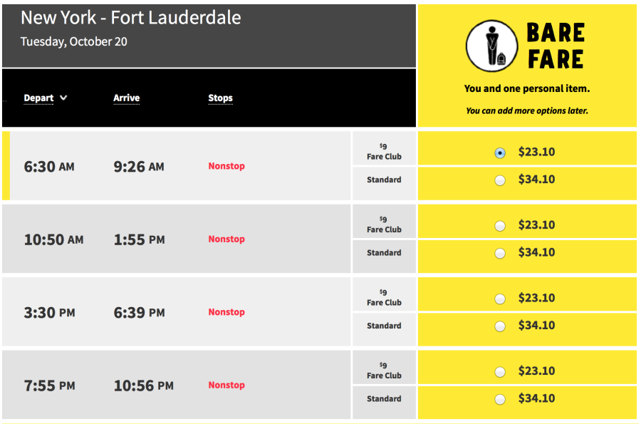 Deal alert 34 fares on spirit airlines to several cities for Spirit airlines one way