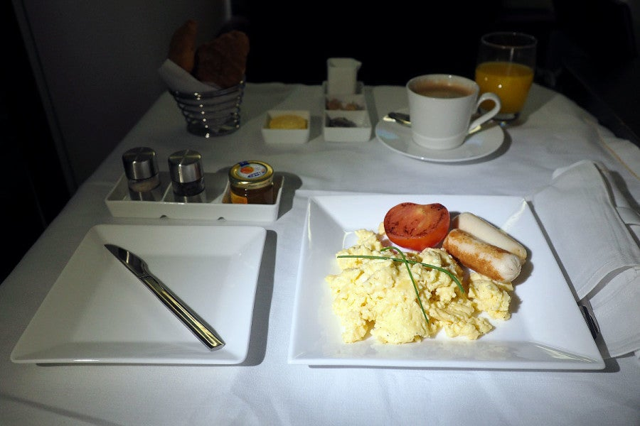 Etihad's breakfast was a delicious end to a long flight.