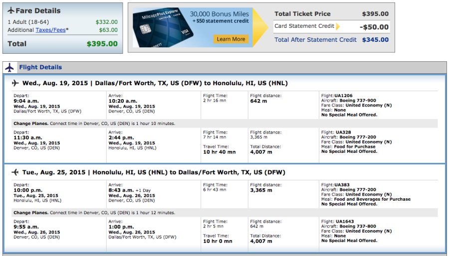 deal alert dallas phx slc to hawaii on united for 395 the points guy