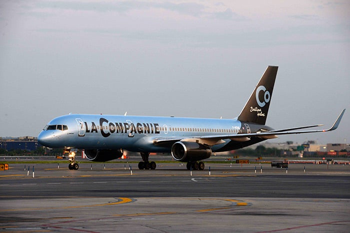 La Compagnie flies 757-200s.