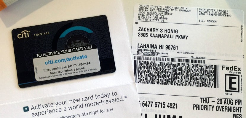 How ive gotten 2250 in value from the citi prestige card a brand new citi prestige card overnighted to my hotel in hawaii reheart Gallery