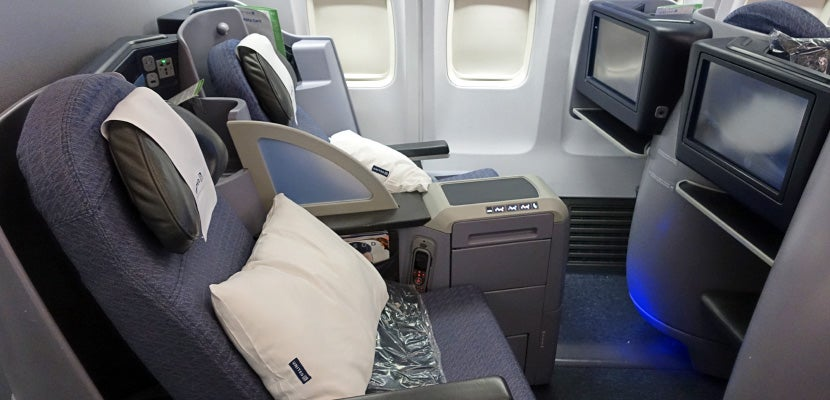 United has flat-bed seats on some flights to Hawaii.