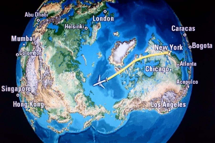 The Flight Brought Us Over North Pole