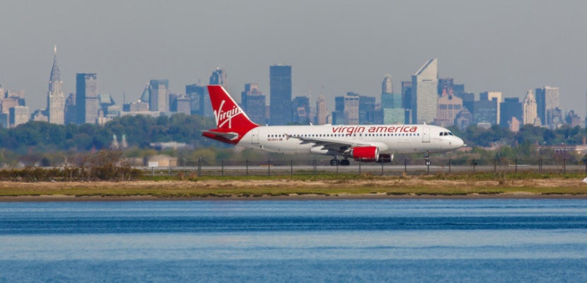 Earn double points with Virgin America through March. Image courtesy of Shutterstock.