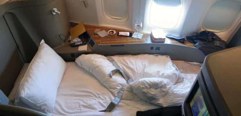 You'll need to redeem even more miles to fly Cathay Pacific first class.
