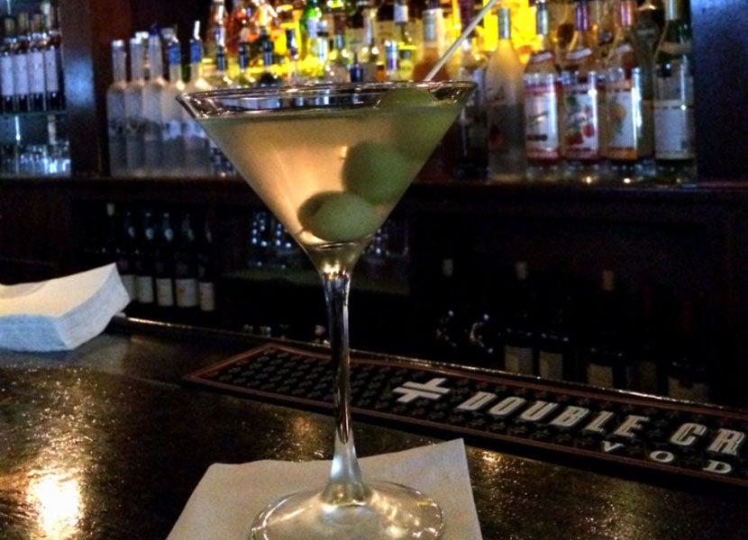 Martini perfection at Delmonico's.