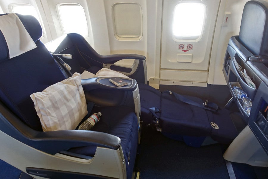 Fully reclined the seats are nearly flush with the floor u2014 When you recline them to the angle-flat position the entire seat slides forward and down. & 10 Very Unusual Things About the Worldu0027s Longest 737 Flight islam-shia.org