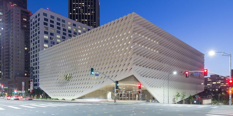 LA's new Broad Museum. Photo courtesy of: The Broad. Photo credit: Iwan Baan.