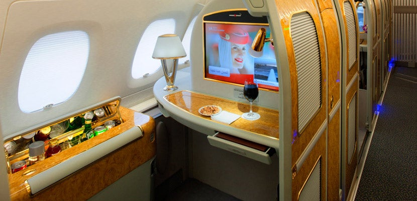 A first-class suite on Emirates.