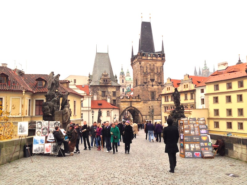 There are 30 statues lining each side of the 1,692-foot-long Charles Bridge, and countless daily tourists.
