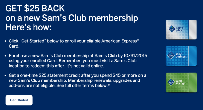 Get $25 back on a new Sam's Club membership.