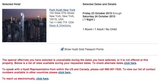 Unfortunately this property is not complying with the T&C of the Gold Passport program.
