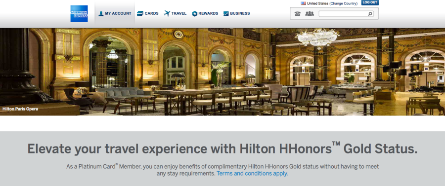 Free Hilton HHonors Gold Status with the Amex Platinum Card