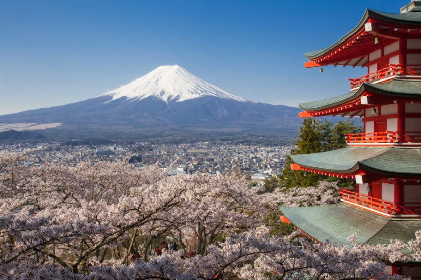 Photo courtesy of Shutterstock http://www.shutterstock.com/pic-307110335/stock-photo-japan-beautiful-landscape-mountain-fuji-and-chureito-red-pagoda-with-cherry-blossom-sakura.html