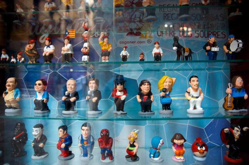 Needa small souvenir? Catalan Caganer figurines can be found in a variety of celebrity editions, including Michael Jackson.