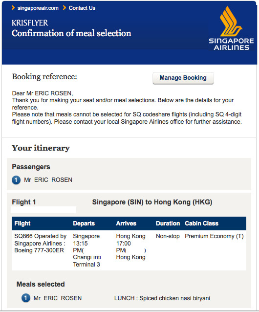 Review: Singapore Airlines 777-300ER in Premium Economy