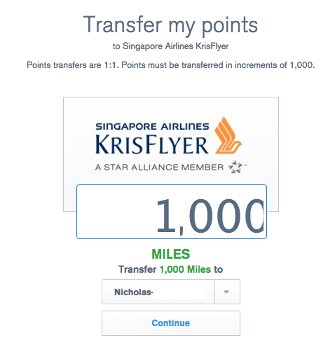 Transferring Ultimate Rewards Points To Singapore Airlines