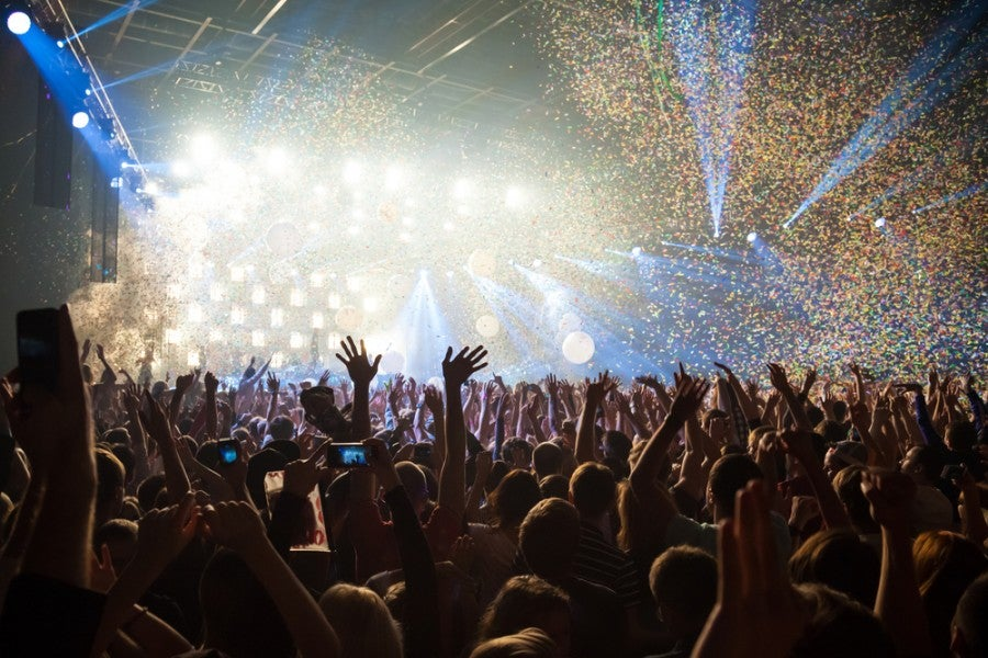 Concert crowd stage shutterstock 222498370