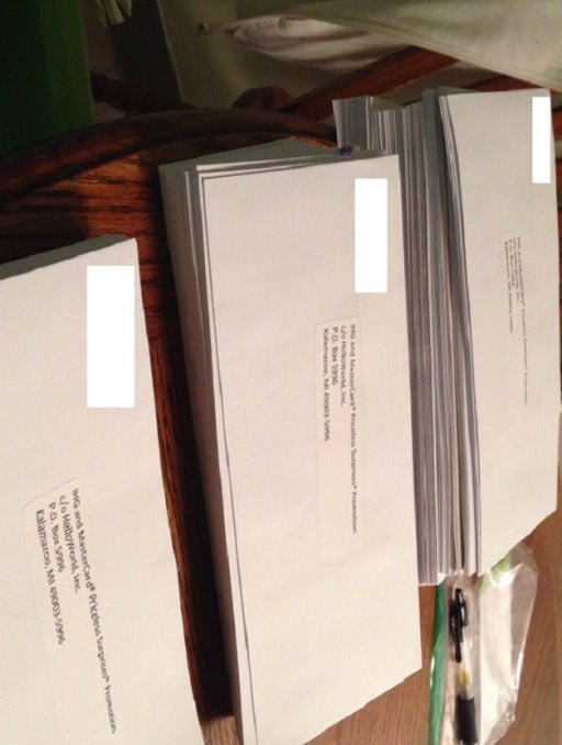 My wife and I put 188 envelopes in the mail today.