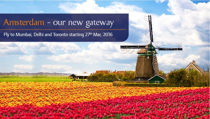 Jet Airways to partner with KLM and Delta to fly from Amsterdam to Mumbai and Delhi.