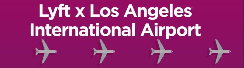 Lyft is now operating at LAX and you get a discount.