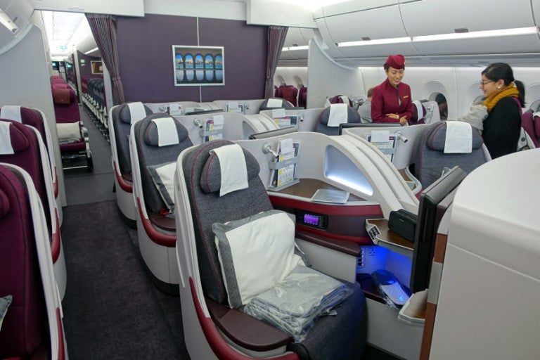 Despite the aborted take-off, Qatar's A350 business class is phenomenal.