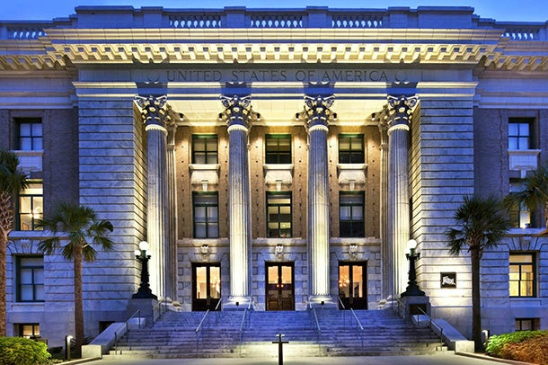 The Le Meridien Tampa is set in a former federal courthouse.