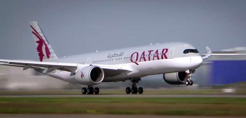 Qatar's new A350.