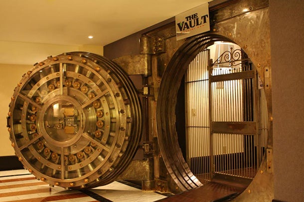 The Vault martini lounge at the Sheraton Columbia Downtown Hotel.
