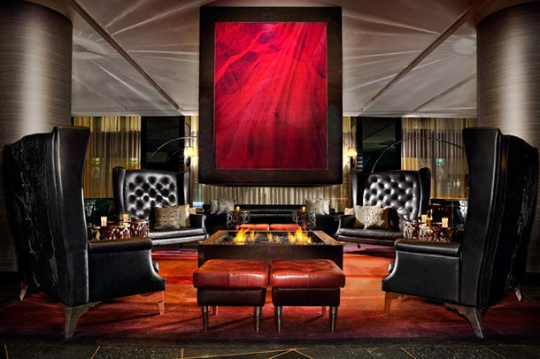 The Living Room lounge at the W Minneapolis - The Foshay.
