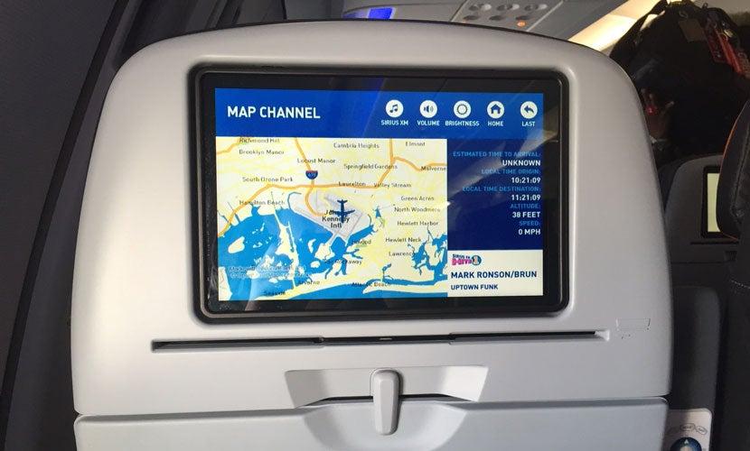 The screen on my recent flight.