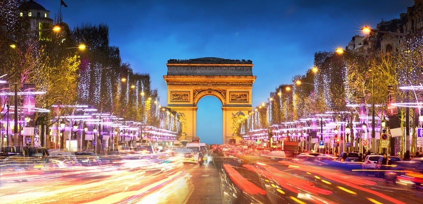 Paris France Arc de Triomphe night featured shutterstock 124132723