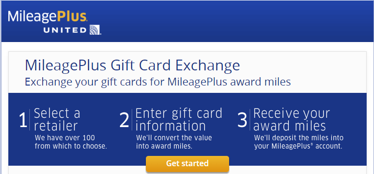 Exchange Your Unwanted Gift Cards for United Miles