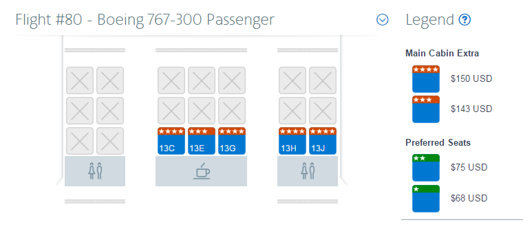 how to choose seat in flight