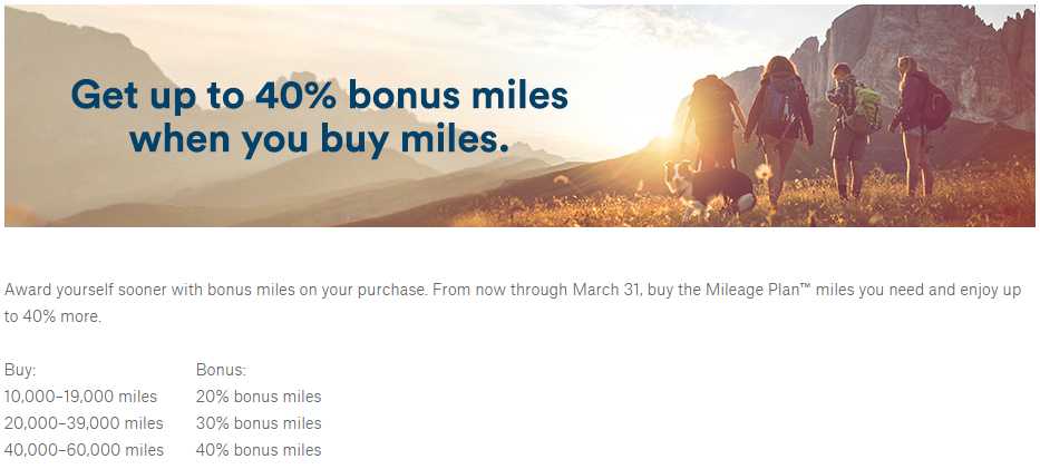 Up To A 40 Bonus When You Purchase Alaska Air Miles