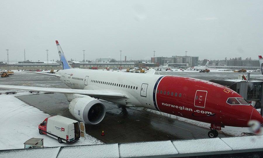 The Dreamliner After We Landed In Osl