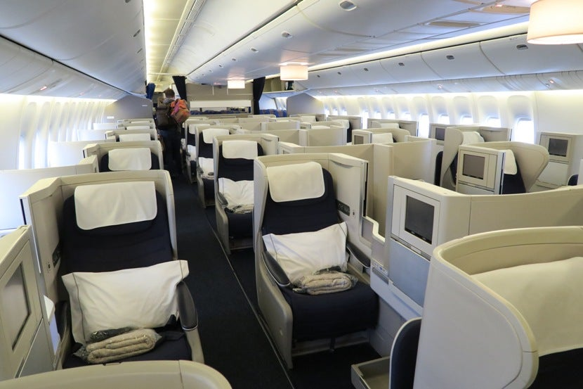The Quite Large 777 200 Club World Cabin Was Mostly Filled This Flight