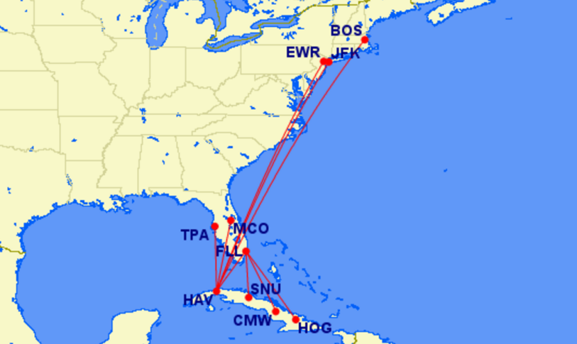 Jetblue Jetblue S Proposed Cuba Routes
