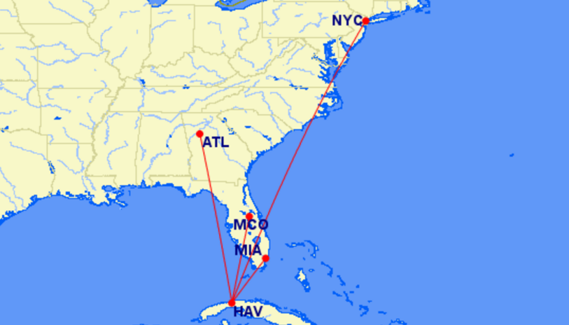 Delta S Proposed Cuba Routes