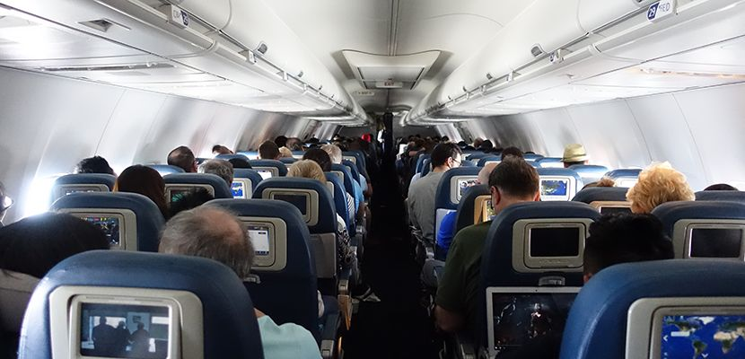 I Was Seated Near The Back Of Aircraft