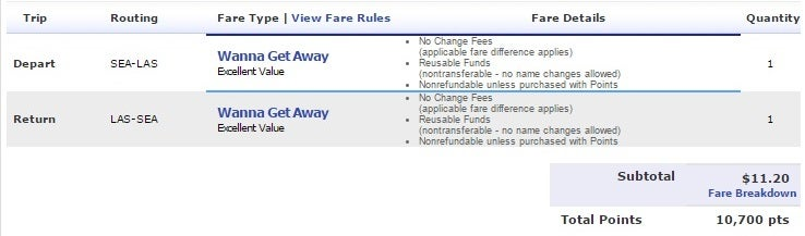 At The Time Of Writing Southwest Was Offering A Nonstop Evening Departure And Afternoon Return For 10 700 Points Plus 11 20 Security Fees